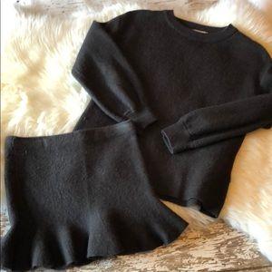 Zara Fancy Collection Knitwear Sweater Skirt Set 7